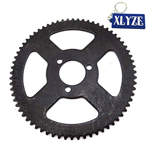 xlyze 25H 68T 59 mm Pignon de chaîne arrière pour 47 cc 49 cc mini moto Pocket Dirt Bike ATV Quad