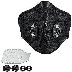 Máscara Antipolución Máscaras de Carbono Activado Oreja Colgante N99 Adecuado con 5 Filtros para Ciclismo, Correr, ActividadesRecreativas al Aire Libre y Otros Deportes al AireLibre