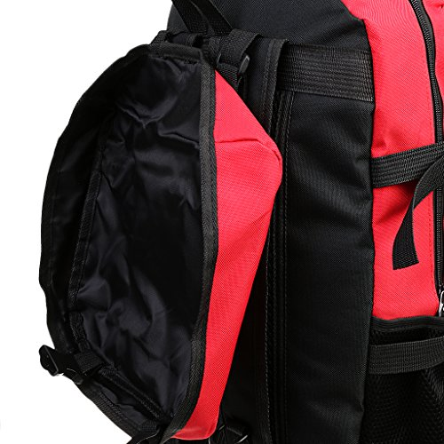 Gazechimp Erwachsene Unisex Rucksack Camping Reise Wandern Sporttasche Wanderrucksack Trekkingrucksack Rucksack - Rose Red Rot