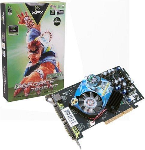 XFX PVT73AUDE3 GF 7600 GT 256MB DDR3 AGP Grafikkarte Dual-DVI