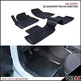 Omac GmbH Allwetter Auto Hohe 3D Gummimatten Fußmatten für Caddy ab 2015 Automatten Schwarz 4 Teilig