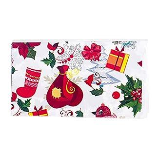 XdiseD9Xsmao Mantel Festivo De Feliz Navidad Duradero, Tela De Cubierta De Mesa De Comedor De PVC Impermeable para Adorno De Decoración De Fiesta De Navidad