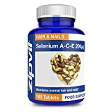 Selenium with Vitamins A-C-E 200mcg | 180 Tablets | For Hair, Skin & Nails | 6 MONTHS SUPPLY from Zipvit