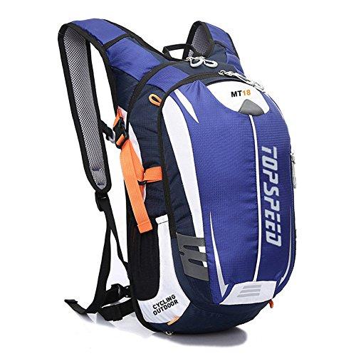 West Radfahren Rucksack Daypack für Radfahren Laufen Wandern Trekking Camping–Die meisten strapazierfähiges leicht, wasserdicht Sporttasche mit enormem Taschen für vielfachen Daypacks Blau