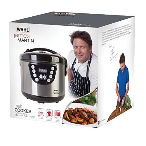 51oJVxeOvBL. SS500  - Wahl ZX916 James Martin Multi Cooker, Steaming, Sautéing, Stewing, Cooking, 24 hrs delay timer, Family sized 4L Capacity…