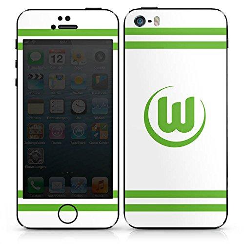 Apple iPhone 4s Case Skin Sticker aus Vinyl-Folie Aufkleber Vfl Wolfsburg Fanartikel Wölfe Fußball DesignSkins® glänzend