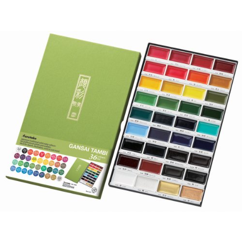 Kuretake Zig Gansai Tambi 36 pezzi, colori assortiti, altri, multicolore