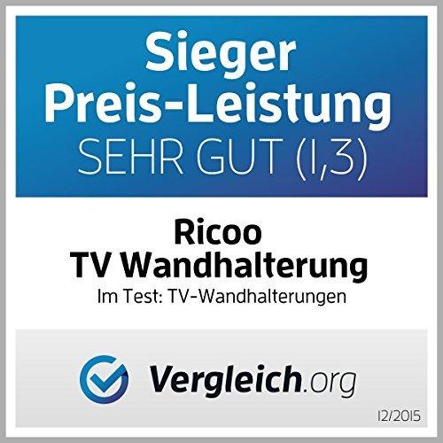 """RICOO Wandhalterung TV Schwenkbar Neigbar R23-F Fischer® UX10 Dübel Universal LCD Wandhalter Fernseher und Monitor Halterung Curved Flachbildfernseher 80-165cm 32\""""-65\"""" Zoll/VESA 400x400"""