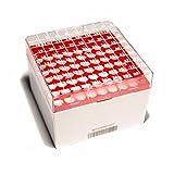 ClearLine BSM58071B1D/RO Box per Provette, 32 pezzi, Rosso