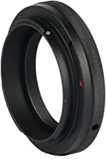 LEDMOMO Ring Lens Adapter Step up Ring Lens Adapter T2 T Mount for Canon EOS T2-EOS 5D 7D 50D 60D 550D 500D 600D 700D 1000D 1200D T5i T4i T3i T2i T1i (Black)