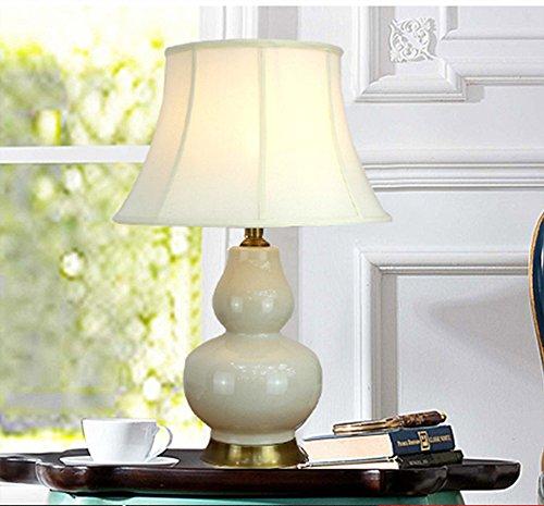 wysm Moderno studio di ceramica cinese lampada da comodino camera da letto della lampada europeo / americano zucca Pure Luci di rame della decorazione della