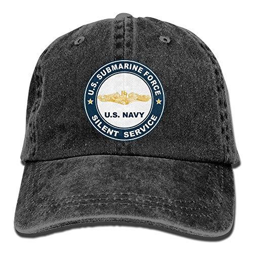 shanghaiyongyunshangwu US-U-Boot Force Silent Service Gold Dolphins Unisex Erwachsene verstellbare Jeans Dad Caps