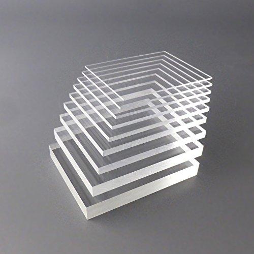 PLEXIGLAS Zuschnitt Acrylglas Zuschnitt 2-20mm Platte glasklar Top (2 mm, 400 x 400 mm) - 2