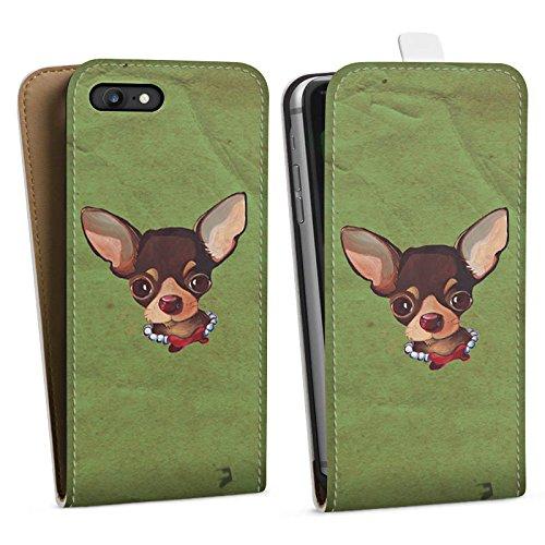 Apple iPhone X Silikon Hülle Case Schutzhülle Chihuahua Hund Dog Downflip Tasche weiß