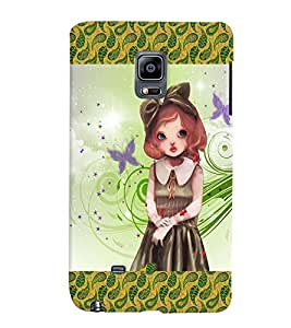 Fuson 3D Printed Girly Designer back case cover for Sansung Galaxy Note Edge - D4134