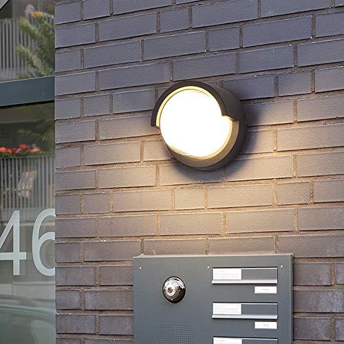Lámpara LED De Pared Para Exteriores, Aluminio Y Plástico, 10W Luz Cálida...