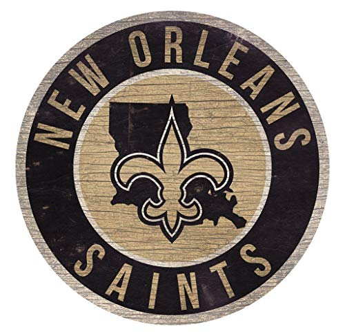 NFL Holz 30,5 cm Rund State Design, New Orleans Saints ()