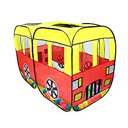 Signstek Foldable Large Space Cute Car Play House Indoor Outdoor Kit Pop Up Play Tent