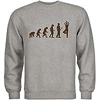 MDMA Kids Kinder Sweatshirt Evolutionstheorie Karate N14-mdma-ks00371-145 Textil white Motiv hellblau Gr 152//164