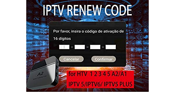 Renew Code for HTV 1 2 3 4 5 TV Boxes,IPTV 6 5 Plus: Amazon co uk