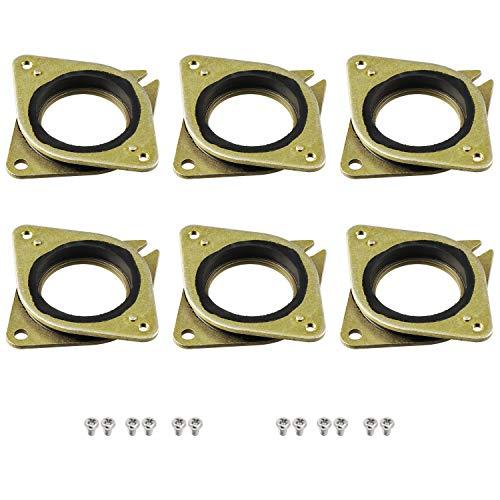 HSeaMall 6 STÜCKE Schrittmotor Stahl und Gummi Schwingungsdämpfer Stoßdämpfer Schritt mit 12 STÜCKE M3 5mm Schrauben für 3D Drucker NEMA17 CNC