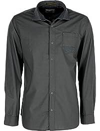 CHEMISE Shirt L/Sl Yarn Dyed Check Stretch