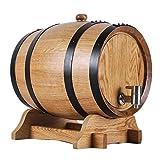 Fûts De Chêne Blanc For Le Whisky Vieillissant À Servir Et For Divertir, Affichage Et Stockage D'accent For La Maison De Table D'alcools Et De Spiritueux (Interface : Stainless steel, Size : 30L)