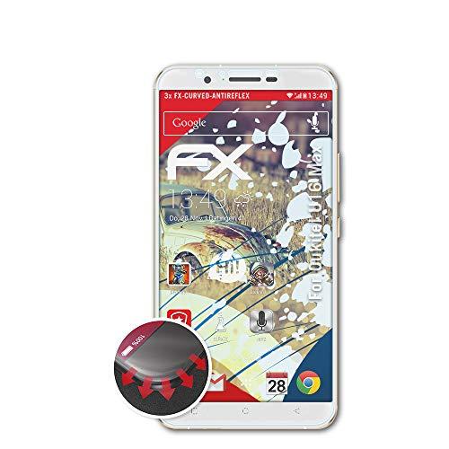 atFolix Schutzfolie passend für Oukitel U16 Max Folie, entspiegelnde & Flexible FX Bildschirmschutzfolie (3X)