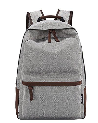 Schulrucksack Schultasche Sports Rucksack Freizeitrucksack Daypacks Backpack für Mädchen Jungen Kinder Damen Herren Jugendliche Grau