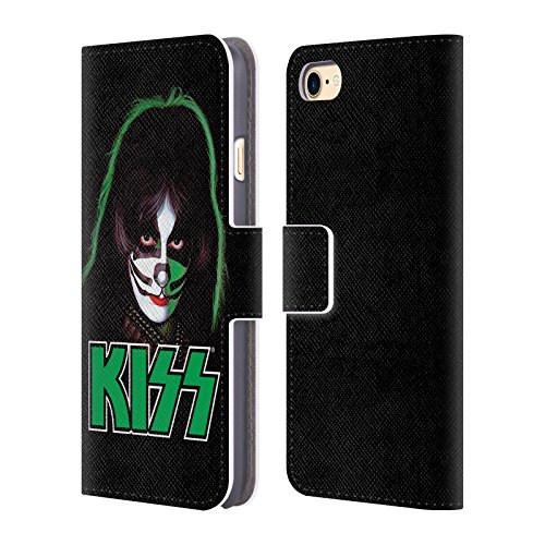 Ufficiale KISS Peter Criss Solo 2 Cover a portafoglio in pelle per Apple iPhone 7 Plus / 8 Plus Peter Criss