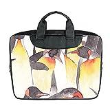 Benutzerdefinierte 15 Zoll importiert Nylon wasserdicht Stoff Laptop tragbare Schulter Messenger Bag Diy Pinguin Design