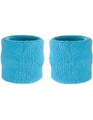 suddora poignet éponge–Coton Athlétique Sport Bracelet en Tissu éponge Pour (Paire)