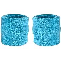 Muñequeras deportivas Suddora, algodón, 2 unidades, azul claro