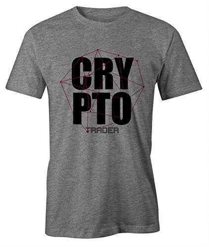 Crypto Trader Miner Bitcoin Cryptocurrency BTC Ltc Digital Currency T-Shirt Camiseta Hombres Gris Large