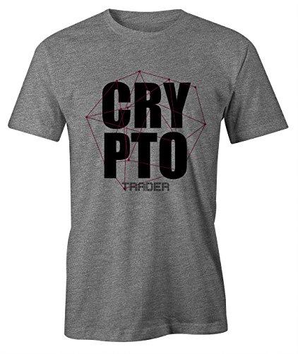 RiotBunny Crypto Trader Miner Bitcoin Cryptocurrency BTC LTC Digital Currency T-Shirt Camiseta Hombres Gris Medium