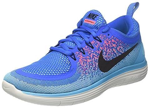 Nike Herren Free Run Distance 2 Laufschuhe, Blau (Soar/Black/Hot Punch/Polarized Blue/Chlorine Blue/Off White), 44 EU