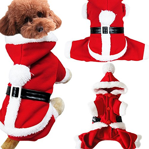 (Pet Weihnachten Kostüm Hund Kleid, Hund Hoodies Haustier Jumpsuit)