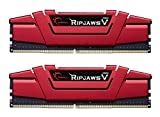 G.SKILL Ripjaws V Series F4-2133C15D-8GVR 8 GB (4 GBx2) DDR4 2133 MHz C15 1.2 V Memory Kit - Blazing Red