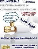 KIT FAI DA TE PER INSTALLAZIONE CLIMATIZZATORI/CONDIZIONATORI -Tubi rame 6 metri 1/4 Ø - 3/8 Ø immagine