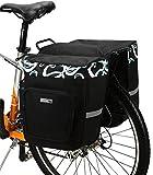 DCCN Fahrradtasche Satteltasche Fahrrad Gepäckträgertasche Super Design 2 in 1 Hinter Koffer 30 L