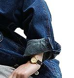 Minetom Damen Herbst Beiläufig Langärmelige Jeansjacke BF Lose Denim Jacken Mantel Coat Dunkelblau - 6