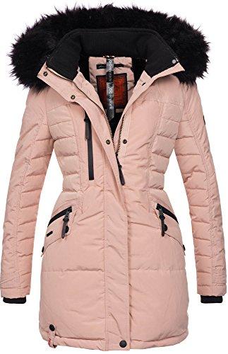 Rosa Winter-mantel-jacke (Navahoo Damen Winter Jacke Mantel Parka warm gefütterte Winterjacke B379 (S, Rosa))