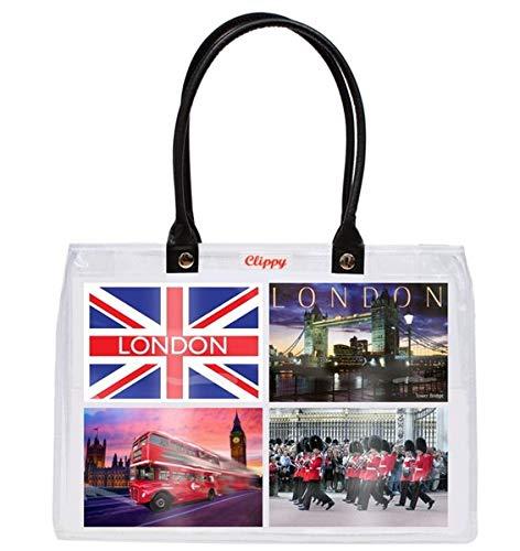 Thong-plattformen, High-heel Sandale (Clippy London Small Bag Fototasche: Tragetasche mit 8 Einsteckfächern - 10x15cm Version)