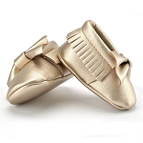 La Cabina Chaussure Princesse Fille - Chaussures Bébé Fille -Chaussure Bébé Fille Premier Pas -Chaussures Souples Confortable - Chaussures Antiglisse pour Hiver Printemps été (0-18 mois ) (0-6 mois, a or