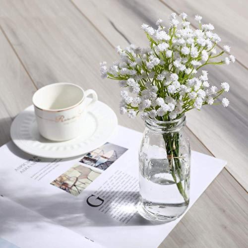 Justoyou gypsophila realistico pu babies breath per matrimonio casa decorazione nuziale bouquet di fiori finti artificiali 10pcs white