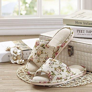 LQXZM Unisex Hausschuhe &Amp; Flip-Flops Frühling Sommer Herbst Winter Komfort Bettwäsche Casual flachem Absatz Blume Weiß Andere White