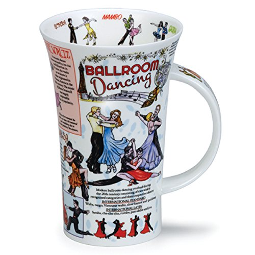 BALLROOM Dancing Dunoon Fine Bone China Tasse?Made in England Staffordshire Fine Bone China