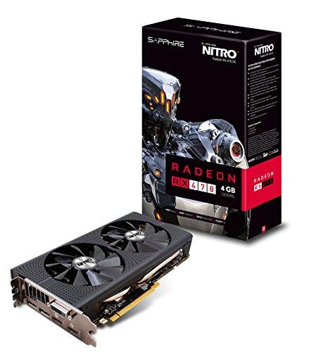 Sapphire Nitro+ RX470 OC - Tarjeta grafica de 4 GB (AMD RX, GDDR5, DisplayPort 1.4, DirectX 12, 3840x2160p, 1750 MHz)