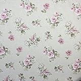 Große Rose Baumwolle Rich Leinen Look Stoff für Vorhänge