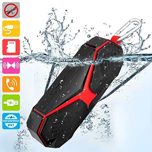 Altavoz Bluetooth Portátil, IPX7 Impermeable Altavoz Inalámbrico Estéreo con Control de Plagas,...